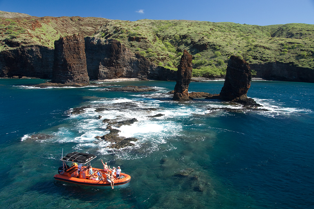 Snorkel Lanai Raft Snorkel 3 Sites Lanai Ocean Riders